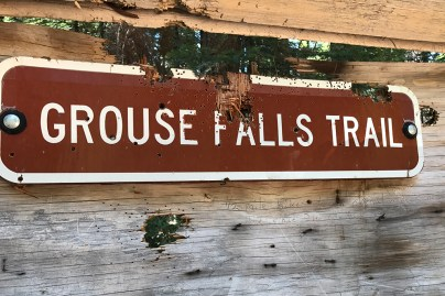 Grouse Falls Trail Sign