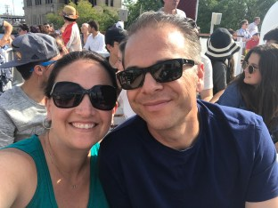 Jennifer and Brian Bourn on the Wendella Architecture Boat Tour fo Chicago