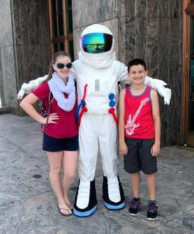 Natalie and Carter visit the Adler Planetarium