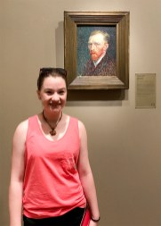 Natalie Bourn with Vincent Van Gogh Self Portrait