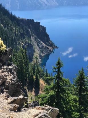 Beautiful slopes of Crater Lake