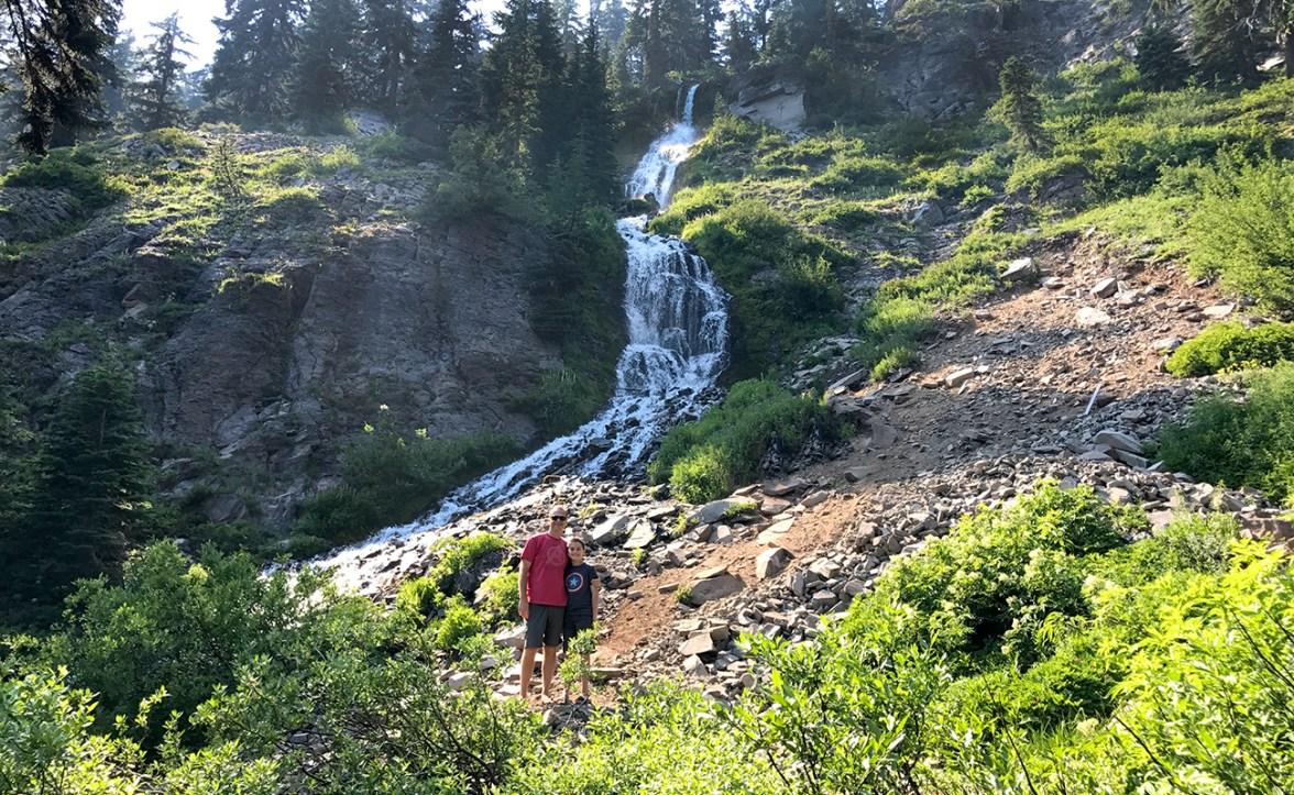Brian and Carter Bourn at Vidae Falls