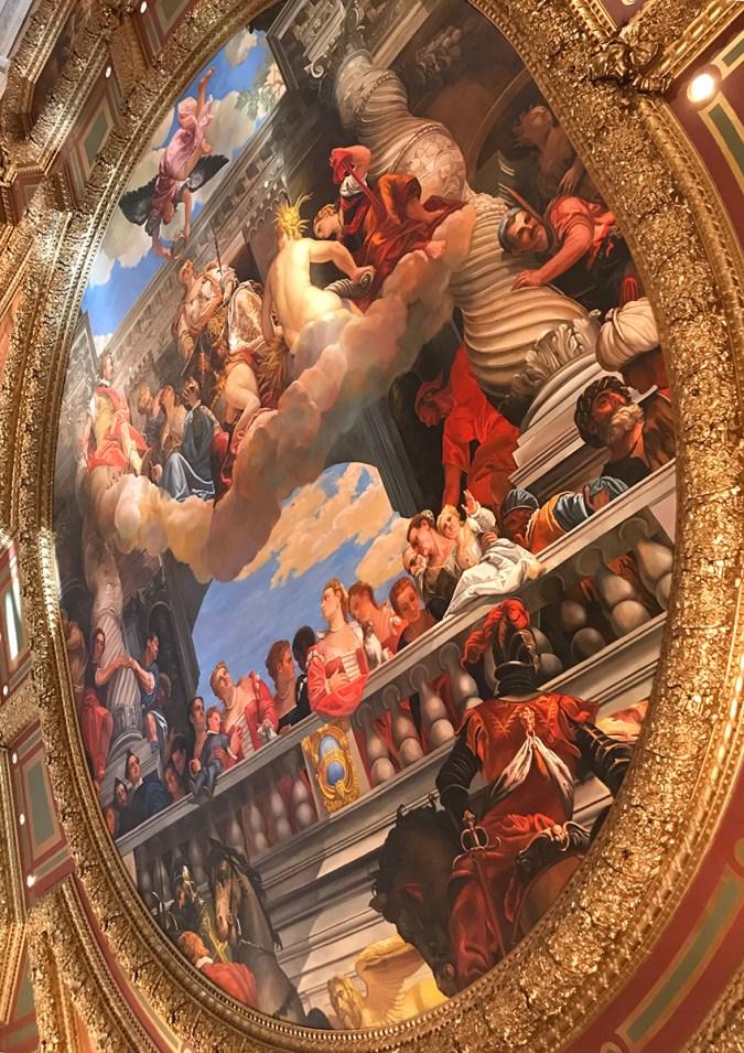Ceiling Murals at the Venetian