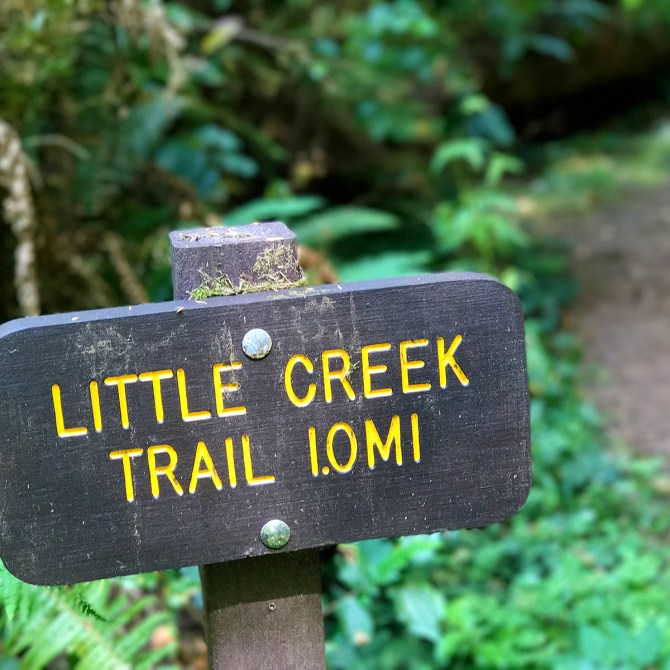 Little Creek Trail SIgn
