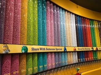 Rainbow Wall of M&Ms