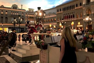 Performers in the Venetian Hotel & Casino