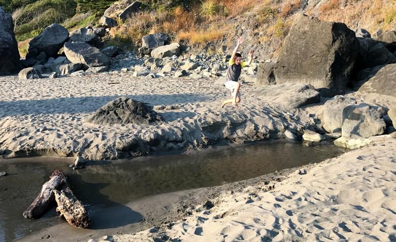 Carter Jumping Over Mill Creek