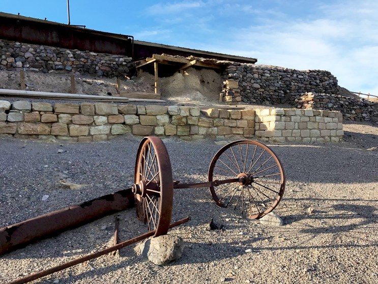 Abandoned Borax Mining Facility in Death Valley