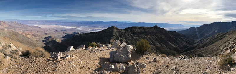 Aguereberry Point in the Panamint Mountains Overlooking Death Valley
