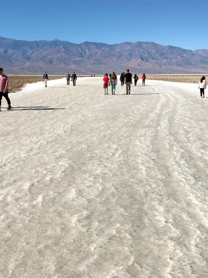 Badwater Salt Flats in Death Valley