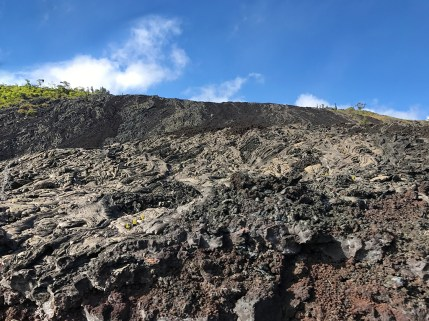 Black A'a Lava and Silver Pahoehoe Lava