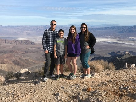 Bourn Family at Aguereberry Point in Death Valley National Park