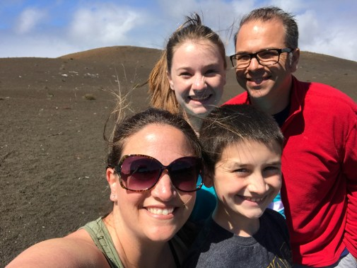 Bourn Family Hiking Devastation Trail in Hawaii
