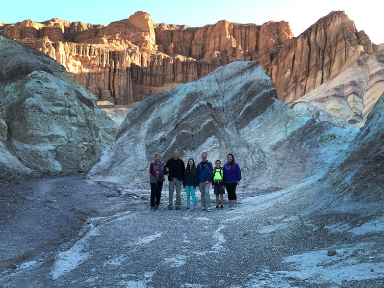 Bourn Family at Red Cathedral in Death Valley