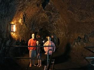 Bourn Family Inside the Thurston Lava Tube
