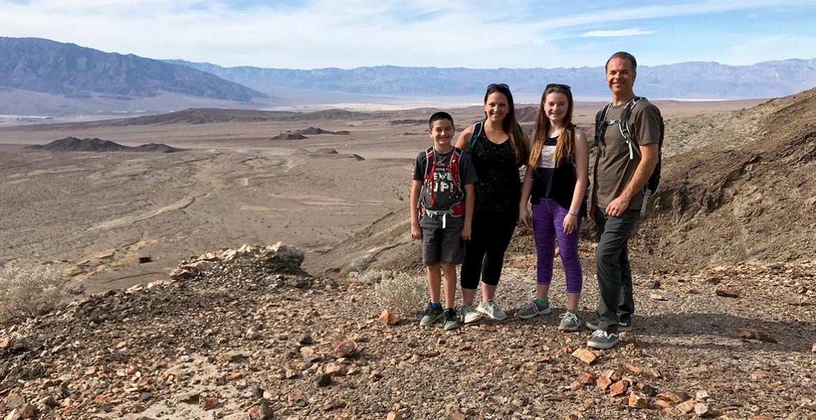 Bourn Family and the View of Death Valley From The Keane Wonder Mine Trail