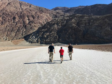 Walking on Salt Flats at Death Valley National Park