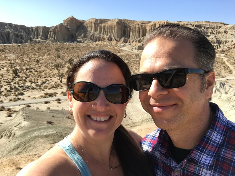 Brian and Jennifer Bourn at Red Rock Canyon State Park in California