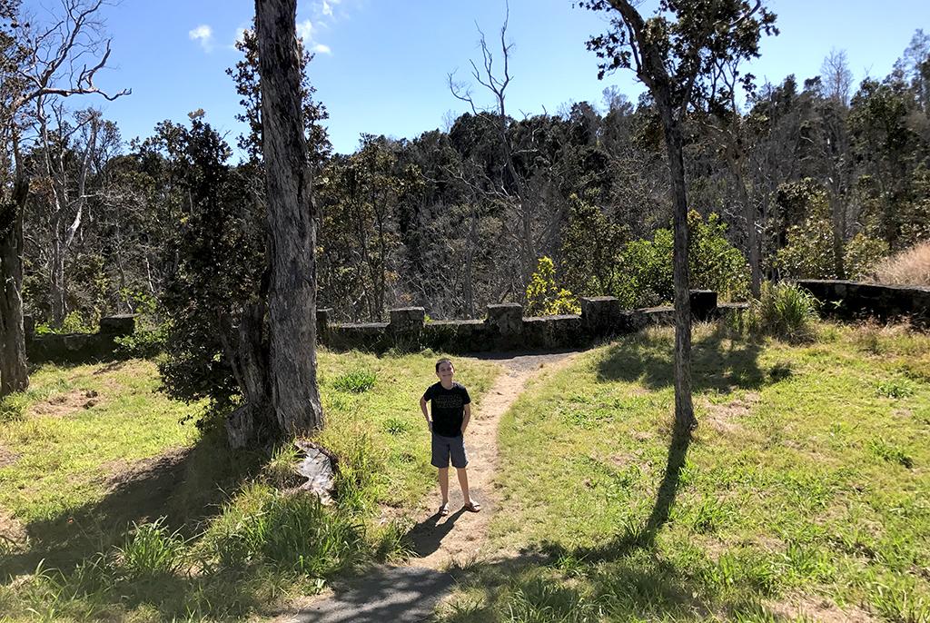 Carter Bourn at Ko'oko'olau Crater Lookout