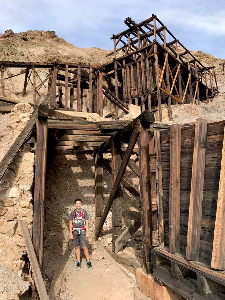 Carter Bourn at Keane Wonder Mine in Death Valley