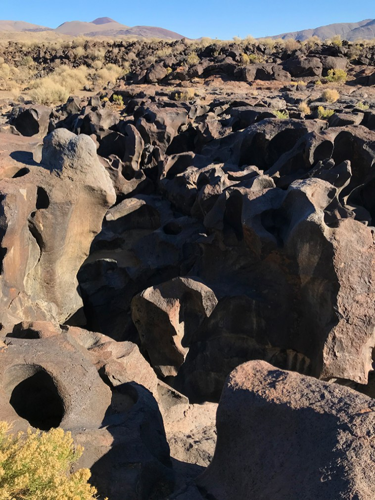 Carved and Pitted Lava Flows at Fossil Falls