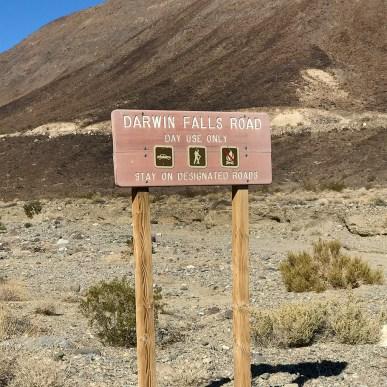 Darwin Falls Road Sign