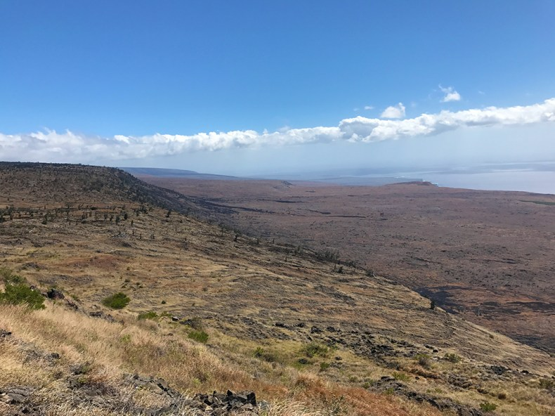 Lava Flow and Ocean Views from the Hilina Pali Cliffs