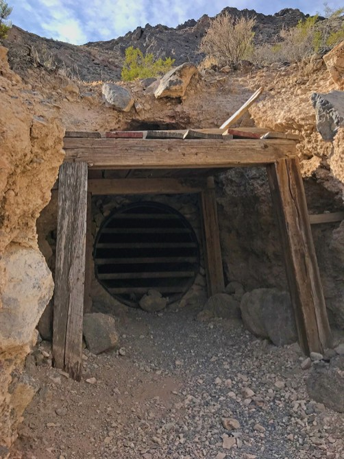 Leadfield Gold Mine Entrance Gated for Bats