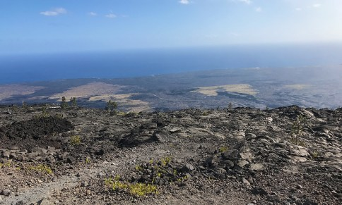 Mauna Ulu Lava Flow Covering the Ancient Kealakomo Village