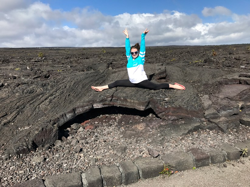 Natalie Bourn at the Mauna Ulu Lava Flow