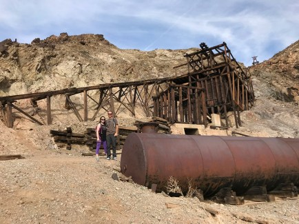 Natalie and Brian Bourn at the Keane Wonder Mine Ruins