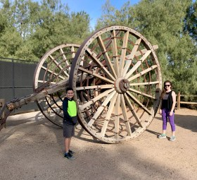 Outdoor Museum in Death Valley with Old Mining Equipment