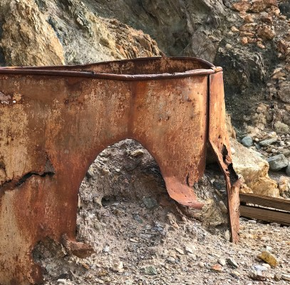 Rusty Mining Relics at Keane Wonder Mine Trail