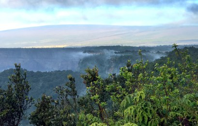 Steaming Cliffs Surrounding Kilauea Crater
