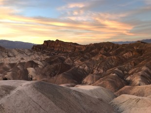 Sunset from Zabriskie Point Overlooking Red Cathedral