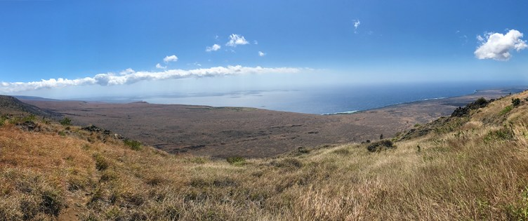 A Panoramic View from the Hilina Pali Cliffs
