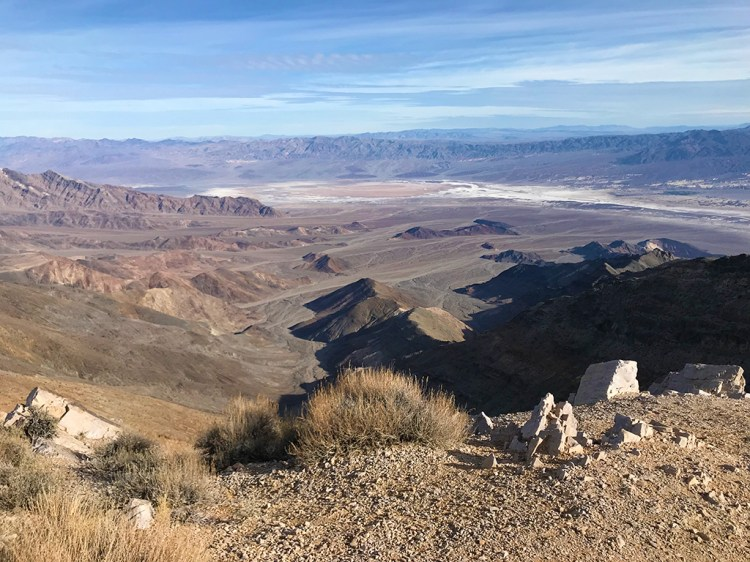 View of Death Valley Salt Flats From Aguereberry Point
