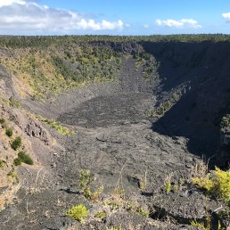 View of Pauhai Crater from Roadside Lookout