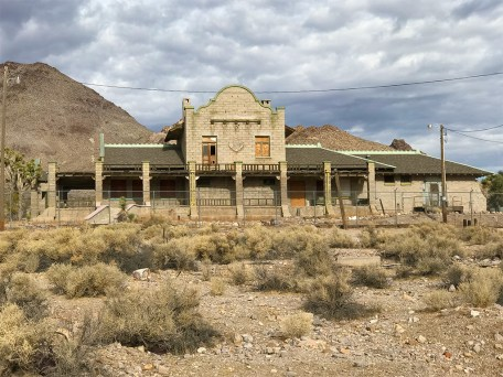 Abandoned Rhyolite Train Depot and Casino
