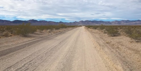 The Beginning of the Titus Canyon Drive through the Amargosa Valley in Nevada