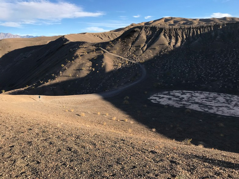 Carter Bourn Hiking to Little Hebe Crater