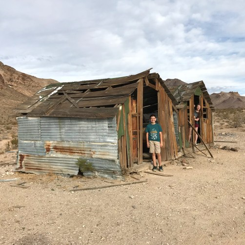 Kids Exploring a Nevada Ghost Town