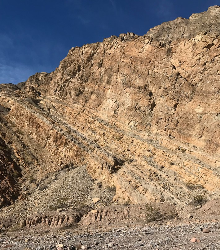 Layers of Rock Pushed Up By Earthquakes and Volcanic Activity