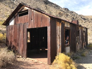 Natalie Bourn at Leadfield Ghost Town in Death Valley