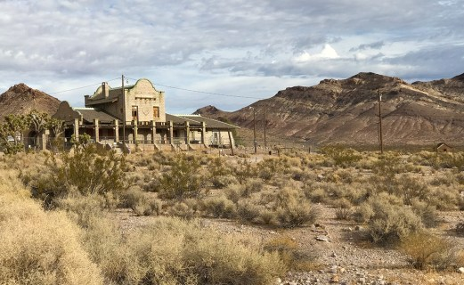Rhyolite Ghost Town Train Depot Building