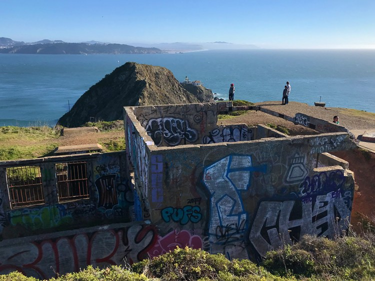 Abandaoned Buildings in Marin Overlooking the Point Bonita Lighthouse