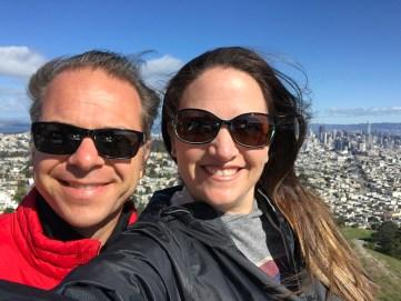 Brian and Jennifer Bourn at Twin Peaks in San Francisco