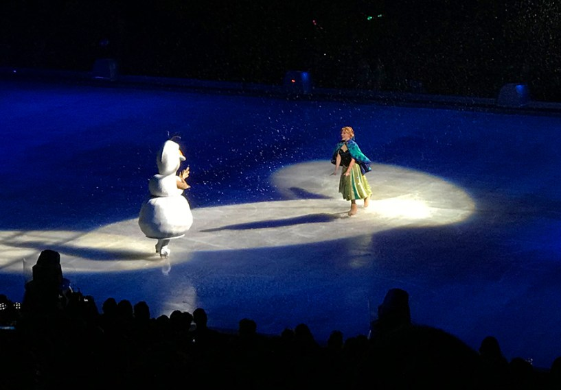 Olaf and Princess Anna in Follow Your Heart By Disney On Ice