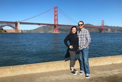 Jennifer and Brian Bourn on the Torpedo Wharf Fishing Pier