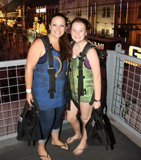 Jennifer and Natalie Bourn Wearing the SlotZilla Zoomline Harnesses